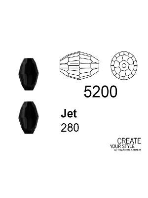Swarovski Chicco di Riso JET - 5200