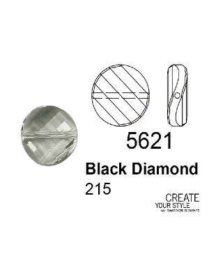 Swarovski Twist Bead BLACK DIAMOND - 5621