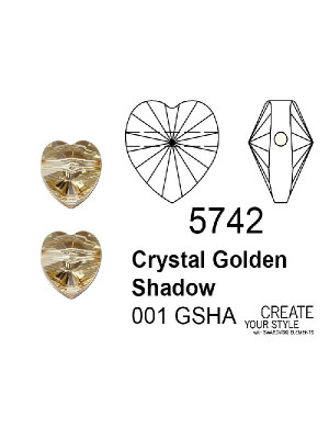 Swarovski Cuore CRYSTAL GOLDEN SHADOW - 5742