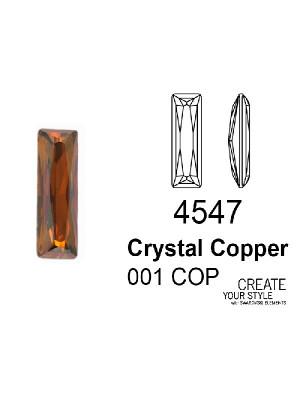 Swarovski Gemma Baguette CRYSTAL COPPER - 4547