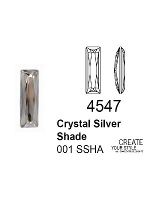 Swarovski Gemma Baguette CRYSTAL SILVER SHADE - 4547
