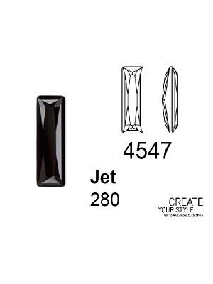 Swarovski Gemma Baguette JET - 4547