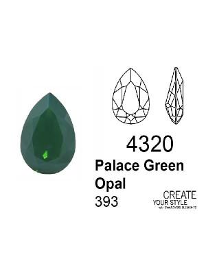 Swarovski Gemma a Goccia PALACE GREEN OPAL - 4320