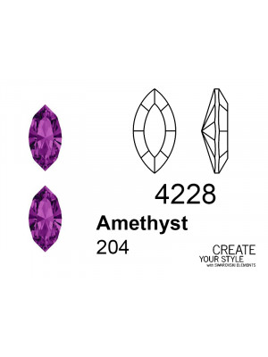 Swarovski Gemma a Navetta AMETHYST - 4228