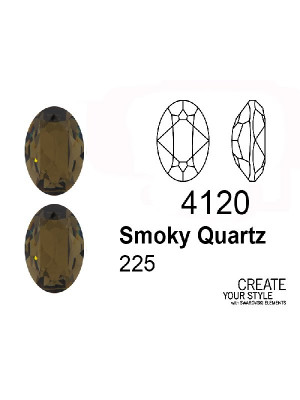 Swarovski Gemma Ovale SMOKY QUARTZ - 4120
