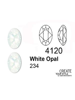 Swarovski Gemma Ovale WHITE OPAL - 4120