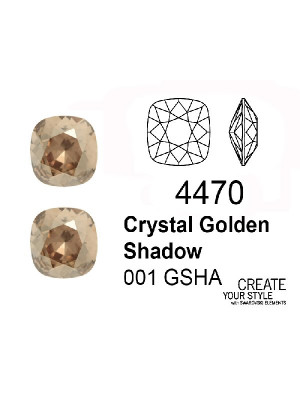 Swarovski Gemma Quadrata CRYSTAL GOLDEN SHADOW - 4470