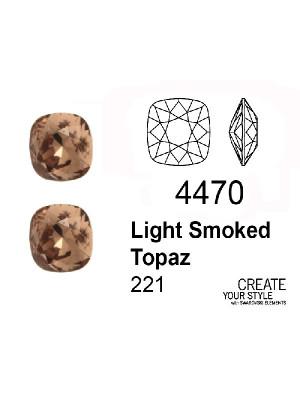 Swarovski Gemma Quadrata LIGHT SMOKED TOPAZ - 4470