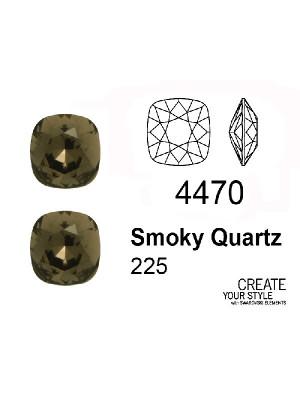 Swarovski Gemma Quadrata SMOKY QUARTZ - 4470