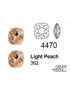 Swarovski Gemma Quadrata LIGHT PEACH - 4470