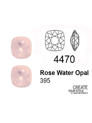 Swarovski Gemma Quadrata ROSE WATER OPAL - 4470