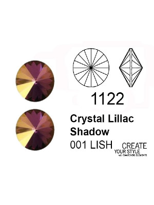 Swarovski Gemma Tonda a Rivolo CRYSTAL LILLAC SHADOW - 1122