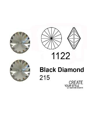 Swarovski Gemma Tonda a Rivolo BLACK DIAMOND - 1122