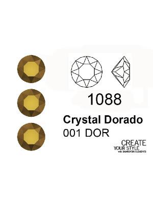 Swarovski Gemma Tonda Conica CRYSTAL DORADO - 1088