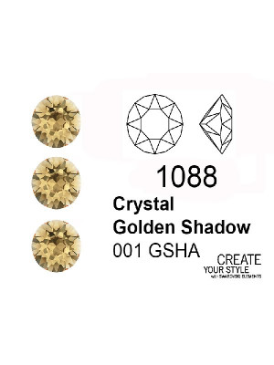 Swarovski Gemma Tonda Conica CRYSTAL GOLDEN SHADOW - 1088