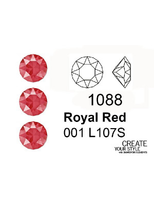 Swarovski Gemma Tonda Conica  ROYAL RED - 1088