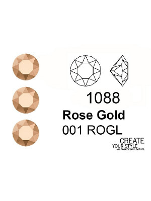 Swarovski Gemma Tonda Conica ROSE GOLD - 1088