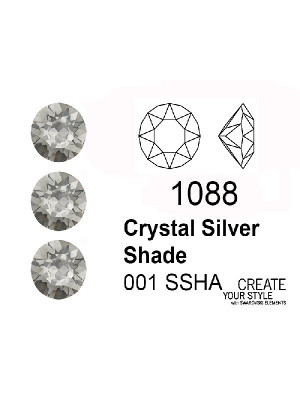 Swarovski Gemma Tonda Conica CRYSTAL SILVER SHADE - 1088