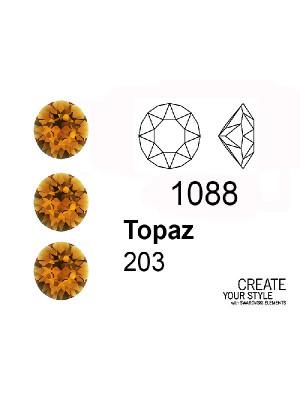 Swarovski Gemma Tonda Conica TOPAZ - 1088