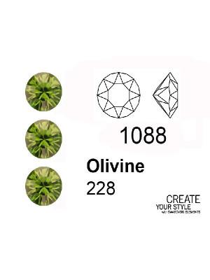 Swarovski Gemma Tonda Conica OLIVINE - 1088
