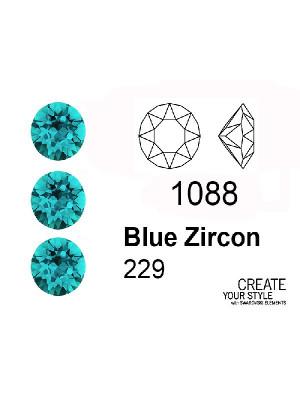 Swarovski Gemma Tonda Conica BLUE ZIRCON - 1088