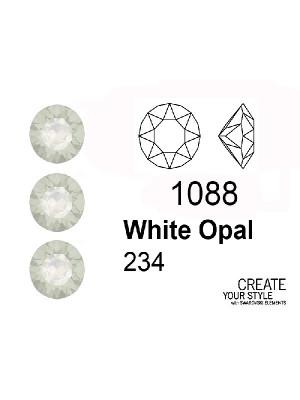 Swarovski Gemma Tonda Conica WHITE OPAL - 1088