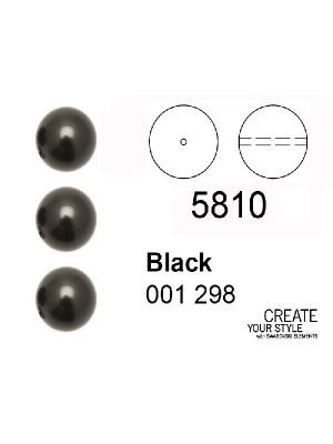Swarovski Perla BLACK (Grigio molto scuro perlato) - 5810