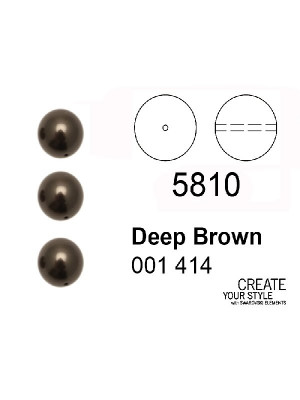Swarovski Perla DEEP BROWN - 5810