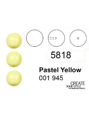 Swarovski Perla (mezzo foro) PASTEL YELLOW - 5818