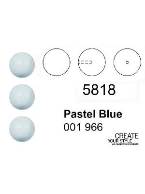 Swarovski Perla (mezzo foro) PASTEL BLUE - 5818