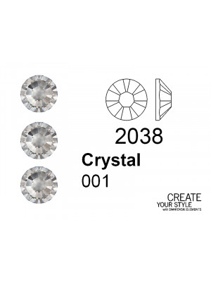 Swarovski Strass Termoadesivo CRYSTAL - 2038