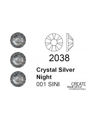 Swarovski Strass Termoadesivo CRYSTAL SILVER NIGHT - 2038