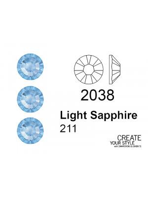 Swarovski Strass Termoadesivo LIGHT SAPPHIRE - 2038