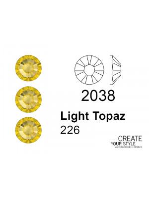 Swarovski Strass Termoadesivo LIGHT TOPAZ - 2038