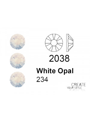 Swarovski Strass Termoadesivo WHITE OPAL - 2038