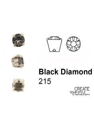 Swarovski Strass da cucito BLACK DIAMOND