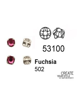 Swarovski Strass da cucito FUCHSIA - 53100