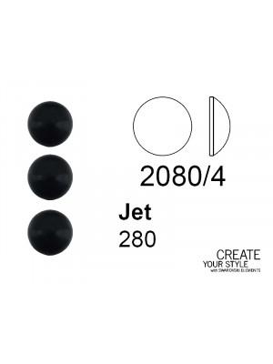 Swarovski Strass Termoadesivo (mezza sfera) JET - 2080/4