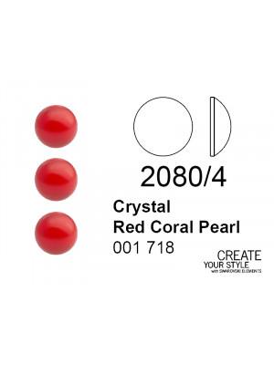 Swarovski Strass Termoadesivo (mezza sfera) CRYSTAL RED CORAL PEARL - 2080/4