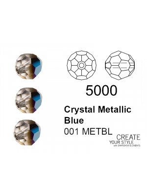 Swarovski Tondo Sfaccettato CRYSTAL METALLIC BLUE - 5000