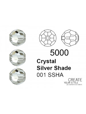 Swarovski Tondo Sfaccettato CRYSTAL SILVER SHADE - 5000