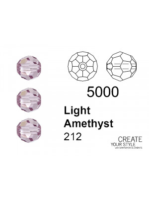 Swarovski Tondo Sfaccettato LIGHT AMETHYST - 5000