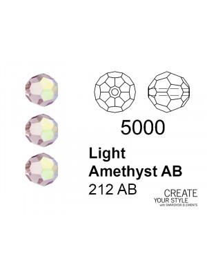Swarovski Tondo Sfaccettato LIGHT AMETHYST AB - 5000