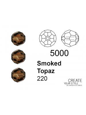 Swarovski Tondo Sfaccettato SMOKED TOPAZ - 5000