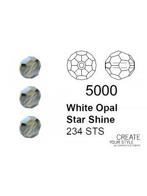 Swarovski Tondo Sfaccettato WHITE OPAL STAR SHINE - 5000