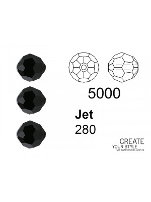 Swarovski Tondo Sfaccettato JET - 5000