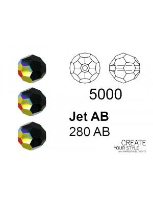 Swarovski Tondo Sfaccettato JET AB - 5000