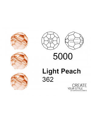 Swarovski Tondo Sfaccettato LIGHT PEACH - 5000