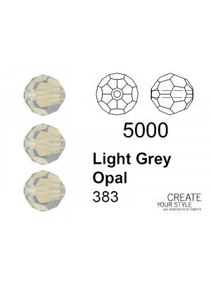 Swarovski Tondo Sfaccettato LIGHT GREY OPAL - 5000