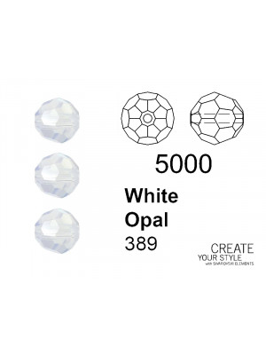 Swarovski Tondo Sfaccettato WHITE OPAL - 5000